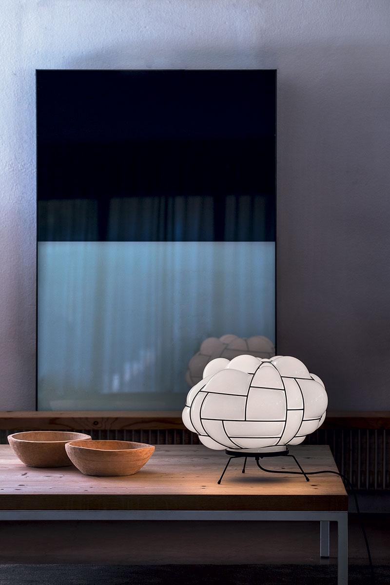 Lámpara de mesa Pallucco Egg blanca