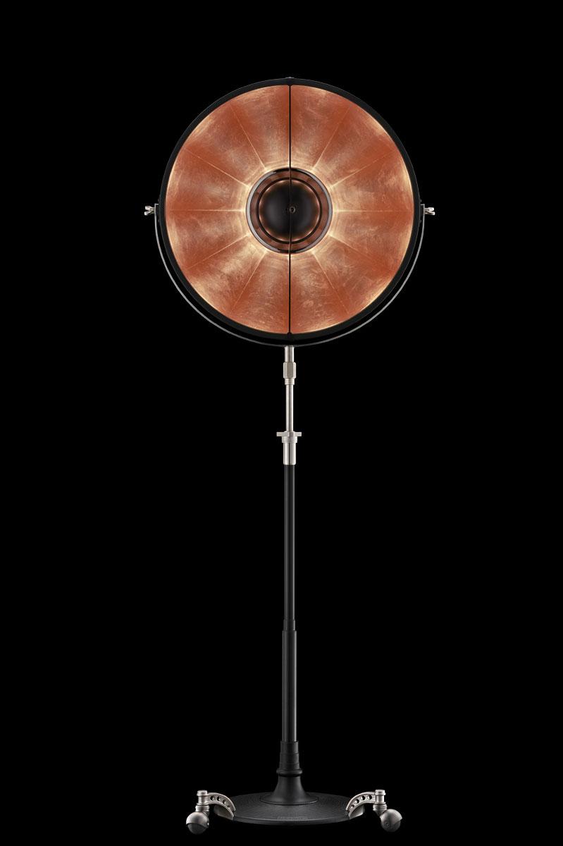 Lámpara Fortuny Atelier 63 negra y con pan de cobre