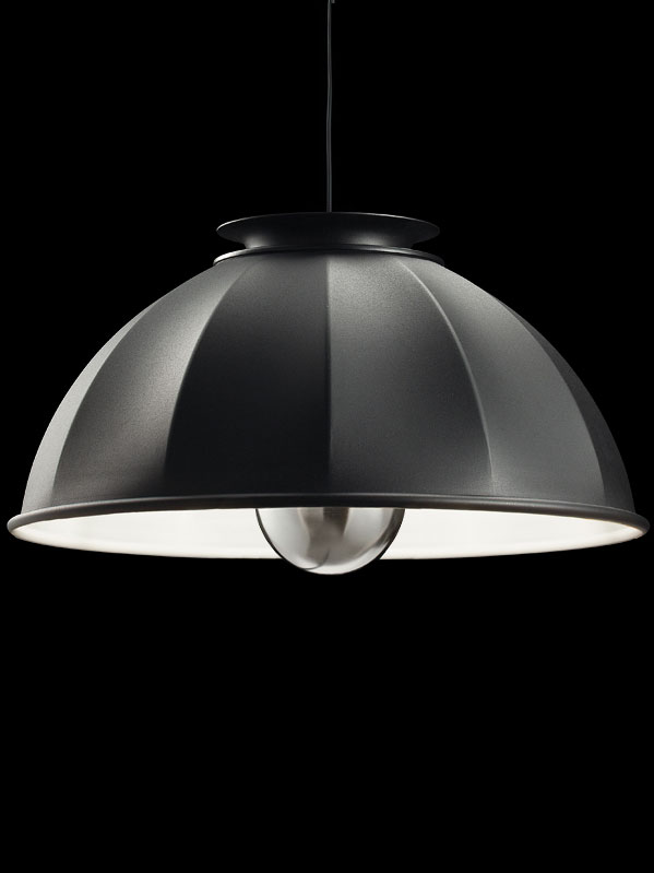 Fortuny Cupola 76 black and white suspended lamp