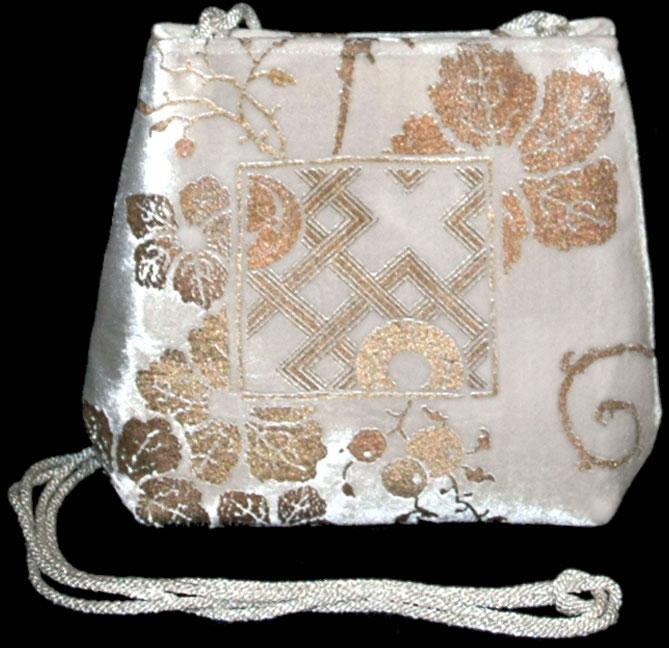 Bolso Fortuny Gioia de terciopelo blanco