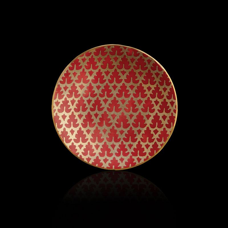 Platos de canapé rojos Fortuny Murillo (conjunto de 4)