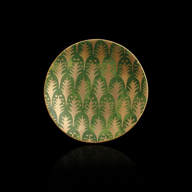 Platos de canapé verdes Fortuny Piumette (conjunto de 4)