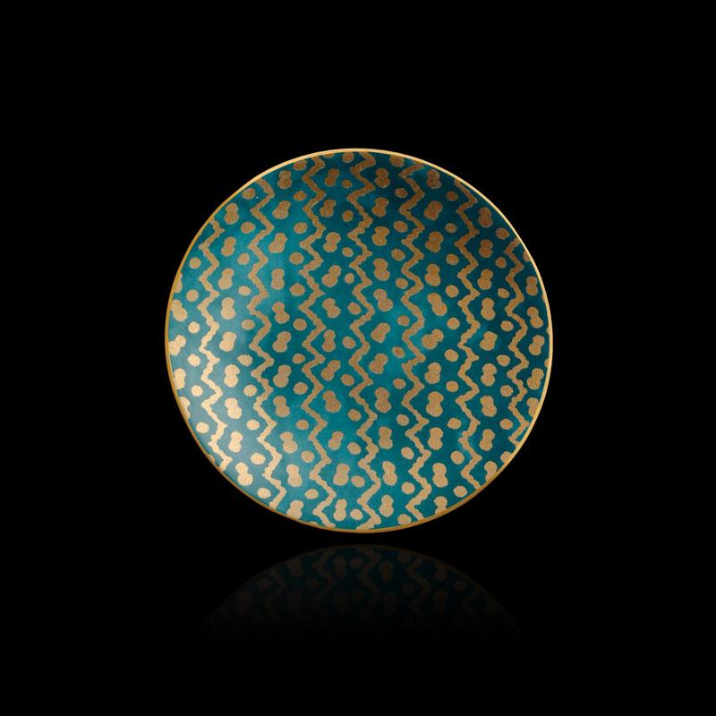 Platos de canapé azul turquesa Fortuny Tapa (conjunto de 4)