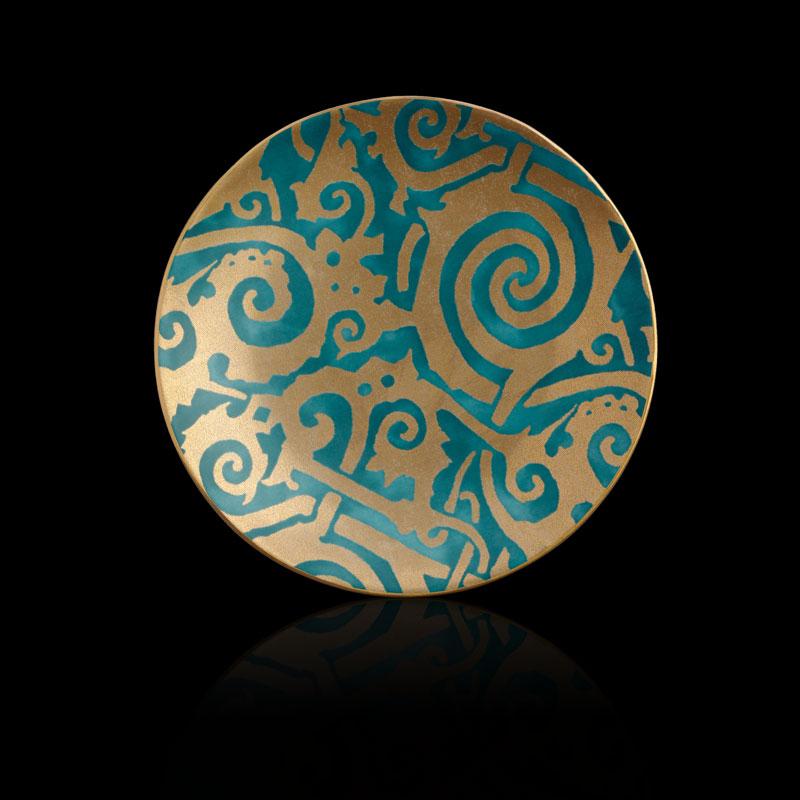Platos de postre azul turquesa Fortuny Maori (conjunto de 4)