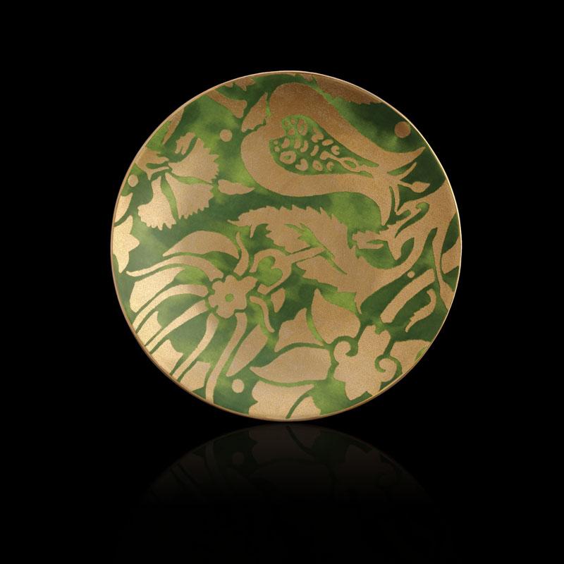 Platos de postre verdes Fortuny Melagrana (conjunto de 4)