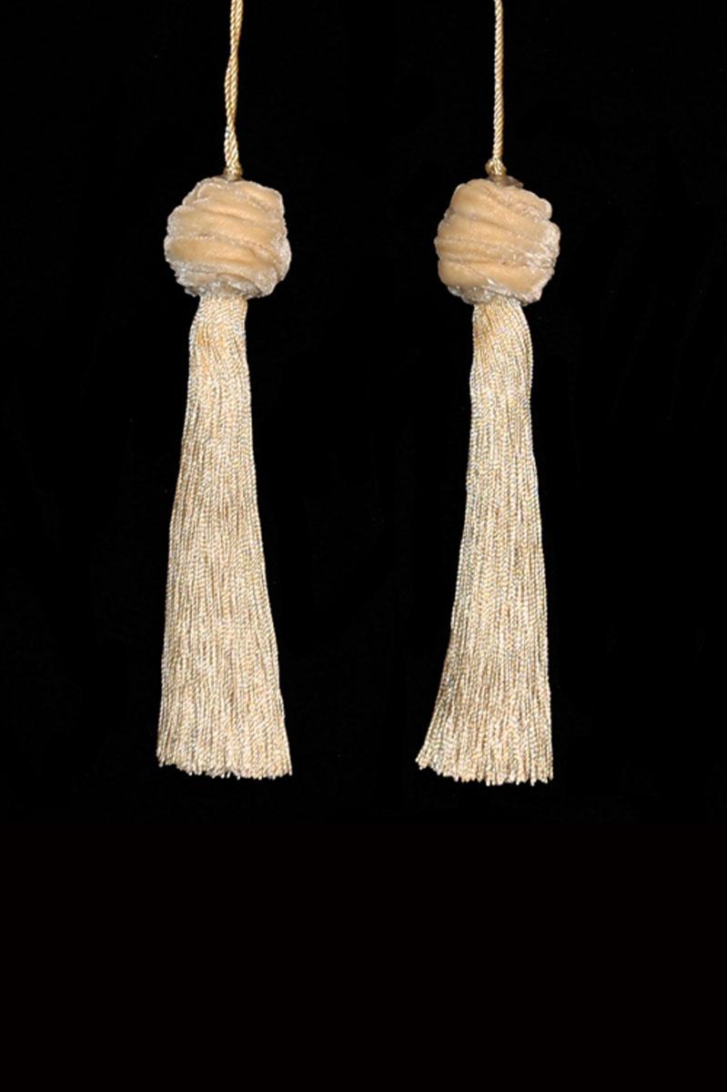 Venetia Studium Turbante couple of vanilla key tassels