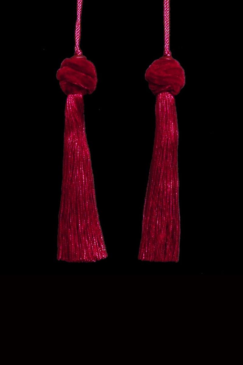 Venetia Studium Turbante couple of blood red key tassels