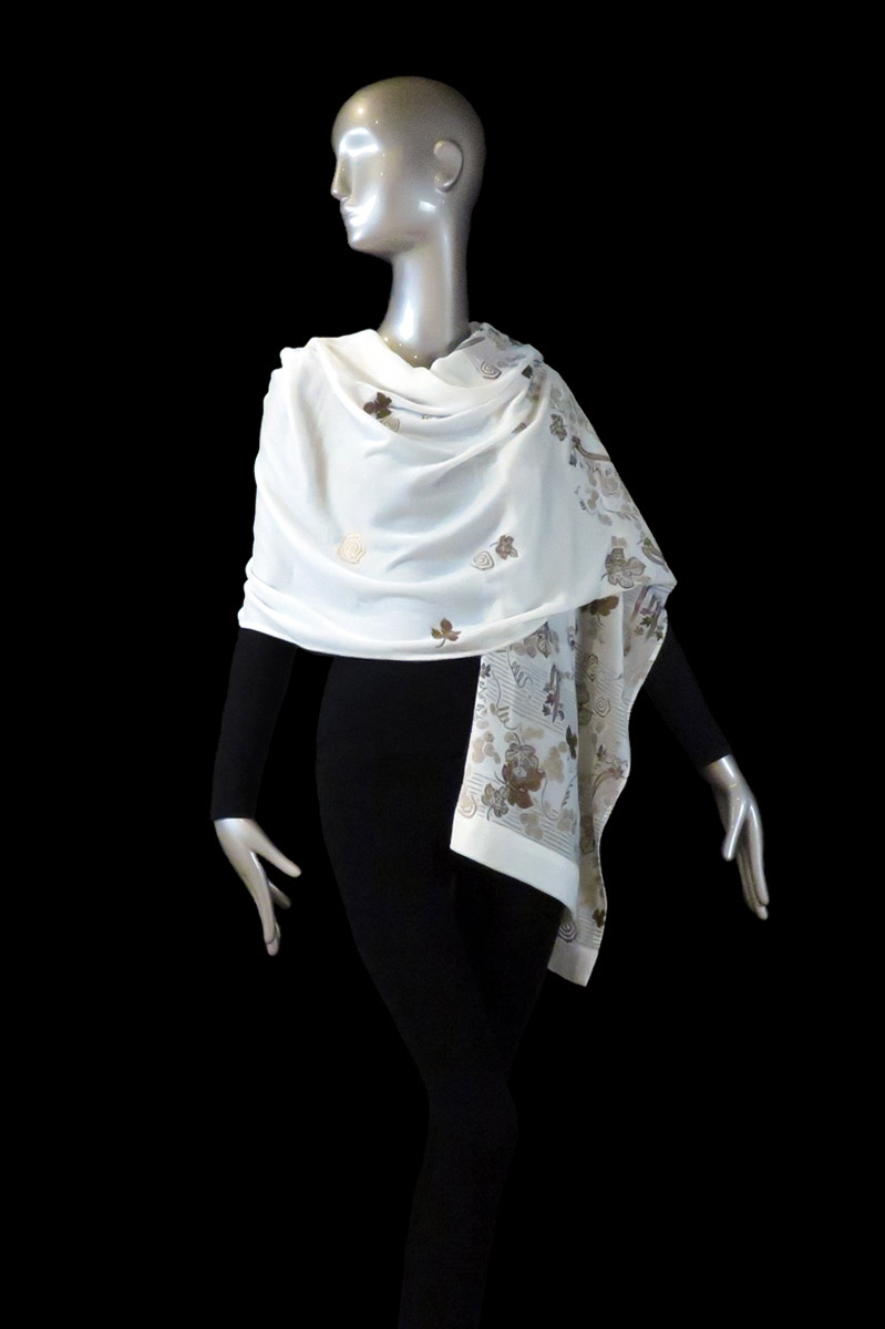 Fortuny printed velvet hooded shawl