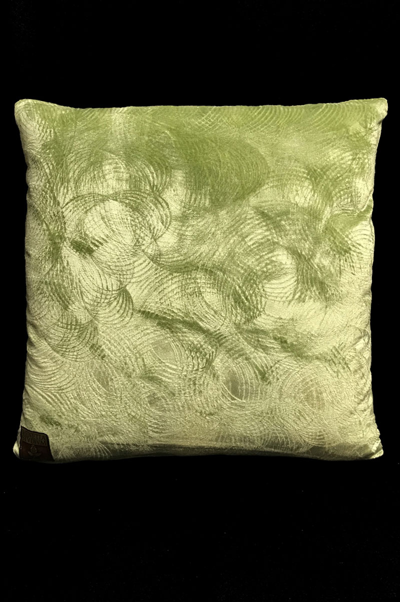 Venetia Studium light green printed velvet square cushion back