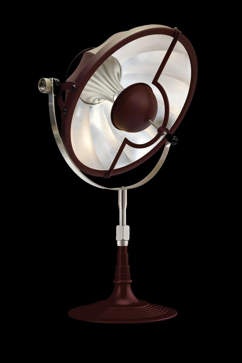 Lámpara de mesa Fortuny Armilla 32 roja y pan de plata