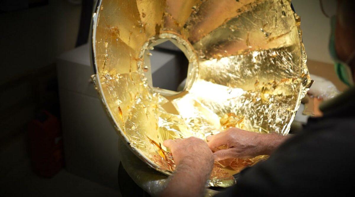 Realización de la Fortuny Studio 1907 con hoja de oro