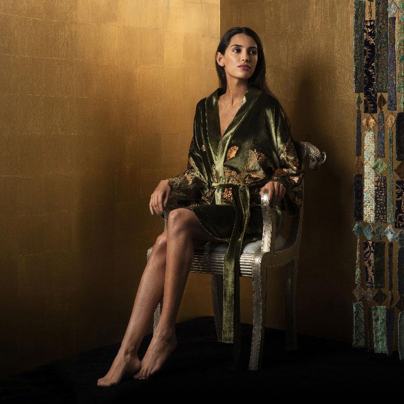 Kimonos Isabel de terciopelo estampados
